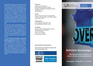 Tagungsf lyer - Leibniz Universität Hannover