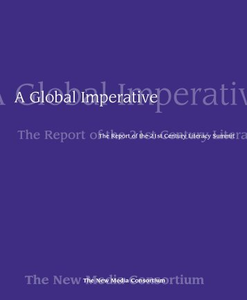 Report of the 21st Century Literacy A Global Imperative - ICT Digital ...