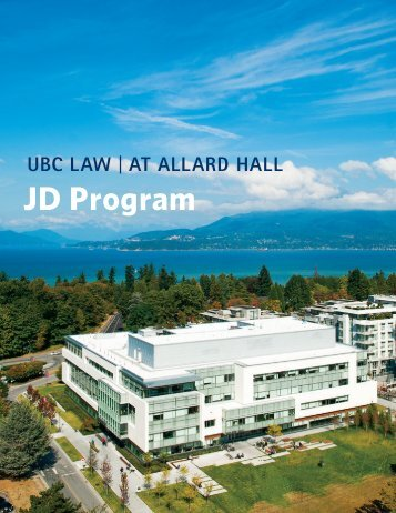 JD Program Guide - University of British Columbia Faculty of Law