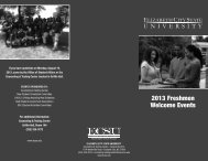 2013 Freshmen Welcome Events - Elizabeth City State University