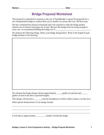 Bridge Types & Forces Worksheet Answers (pdf) - Teach Engineering