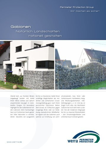 Broschüre Gabionen - Perimeter Protection Group