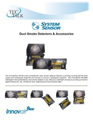 System Sensor Duct Smoke Detectors - Temperature Equipment ...