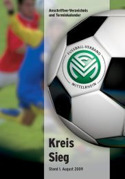 Terminkalender 09/10 - Fußball-Verband Mittelrhein e.V.