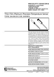Thin Film Platinum Precision Temperature Sensor