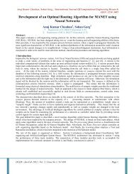 Development of an Optimal Routing Algorithm for MANET ... - ijcer