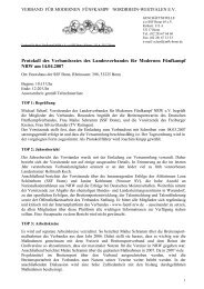 Protokoll des Verbandsrates des Landesverbandes für Modernen ...