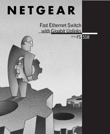 Fast Ethernet Switch with Gigabit Uplinks 518 - ネットワーク機器