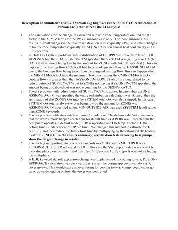 Description of DOE 2.2 version 44e2 Bugfixes - DOE2.com
