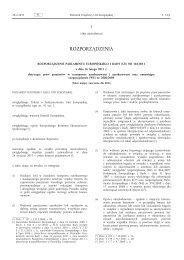 Rozporządzenie Parlamentu Europejskiego i Rady (UE ... - EUR-Lex