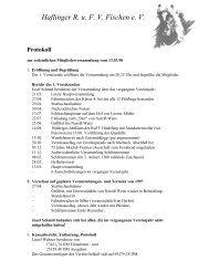 Haflinger R. u. FV Fischen e. V. Protokoll