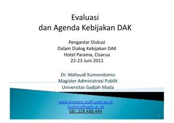 Arah Kebijakan DAK.pdf - Kumoro.staff.ugm.ac.id - Universitas ...