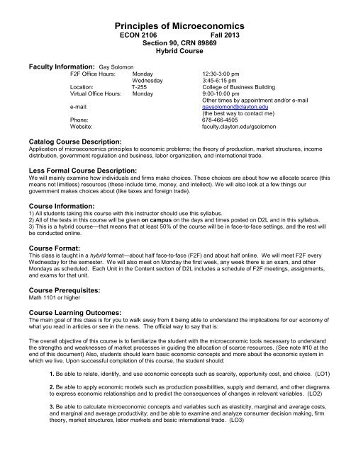 Fall 2013 Printable Syllabus of Hybrid Course - Faculty > Home