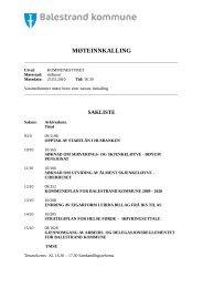 SAKSLISTE - MØTE I KOMMUNESTYRET DEN 25.03.2010.