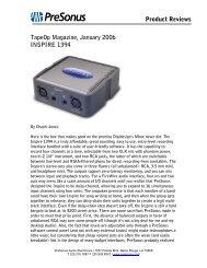 Presonus Inspire 1394 - Audiolog