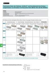 """Technische Daten der Gehäuse """"Größe 8"""" und ... - MTO electric A/S"""