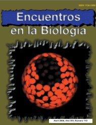 Abril 2006, Año XIV, Número 110 - Encuentros en la Biología ...