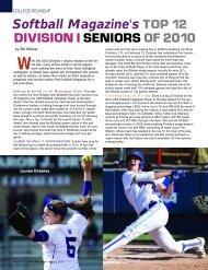 Softball Magazine's TOP 12 Division I Seniors of 2010