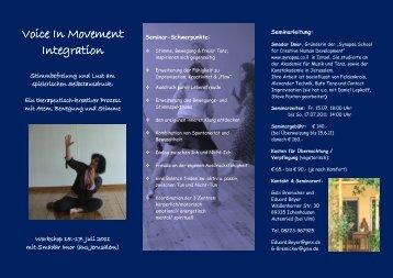 Voice In Movement Integration - Therapeuten.de