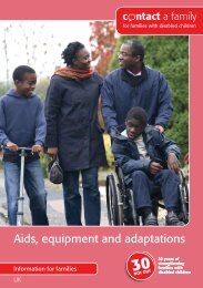Aids, equipment and adaptations - Contact a Family