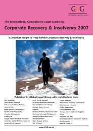 Corporate Recovery & Insolvency 2007 - ENS