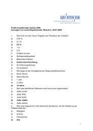 Ernährungstherapie Update 2008 Lösungen zur ... - Quetheb