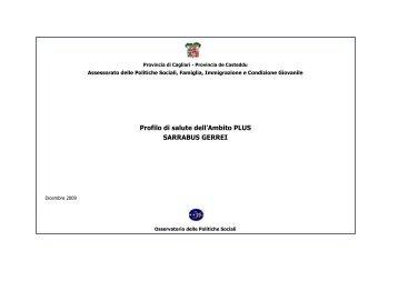 Profilo d'ambito Plus Sarrabus Gerrei dicembre - Sociale - Provincia ...