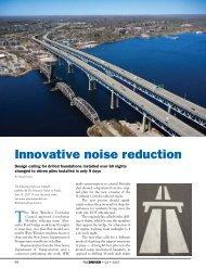 Innovative noise reduction - Pile Driving Contractors Association