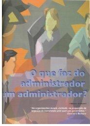 Que faz do administrador um administrador? - Banco de ...