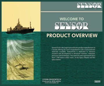 Download our product catalogue. - Sensor Technology Limited