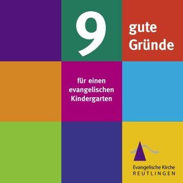 9 gute Gründe für einen evangelischen Kindergarten