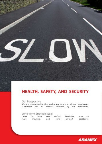 Health, Safety and Security - Aramex.org