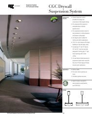 CGC Drywall Suspension System - Kenroc Building Materials