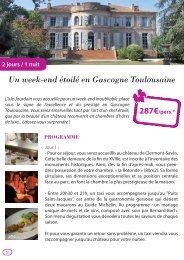 2 jours / 1 nuit Un week-end étoilé en Gascogne Toulousaine ...