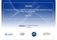 A Very Low 1/f Noise ASIC Preamplifier for High Sensitivity ... - LPP