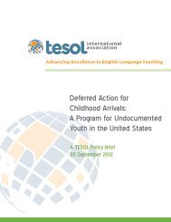 Deferred Action for Childhood Arrivals: A Program for ... - TESOL