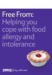 Free From: Helping you cope with food allergy and intolerance - Tesco