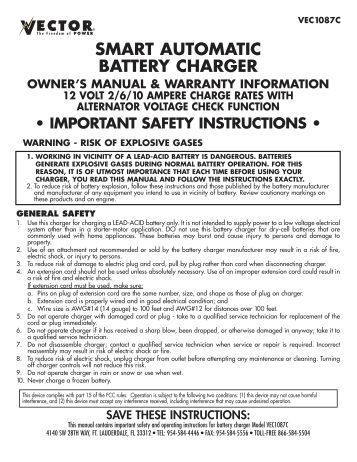 Rexton Battery Charger Operating Guide Codname Outbreak