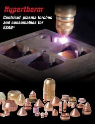 Centricut® plasma torches and consumables for ESAB®