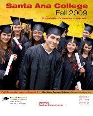 Fall 2009 - Santa Ana College