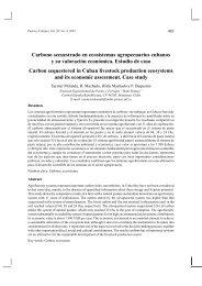 Carbono secuestrado en ecosistemas agropecuarios ... - SciELO