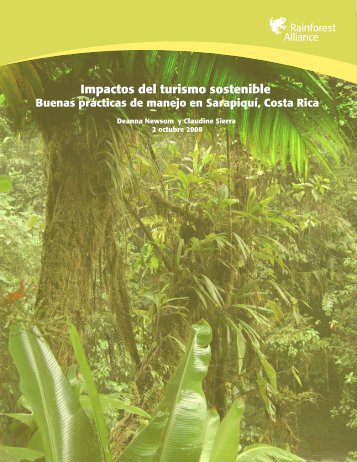 Impactos del turismo sostenible - Rainforest Alliance