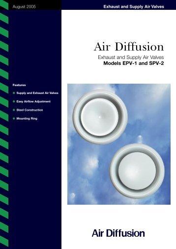 Exhaust and Supply Air Valves - Air Diffusion
