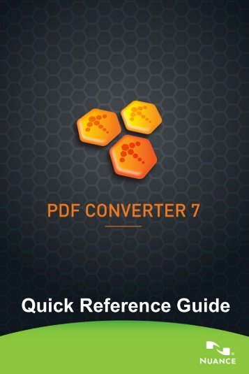 PDF Converter 7 Quick Reference Guide - Support - Nuance