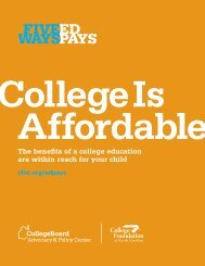 College Is Affordable Brochure (English) - College Board Advocacy ...
