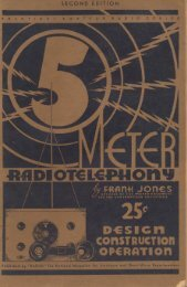 5-Meter Radiotelephony by Frank Jones