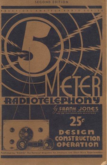 5-Meter Radiotelephony by Frank Jones