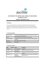 terms of reference (tor) - ascilite