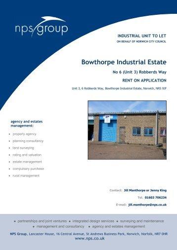 Bowthorpe Industrial Estate - NPS