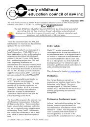 Vol 24 no. 2 September 2006 - ECEC